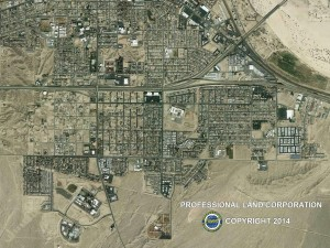 Barstow City aerial map
